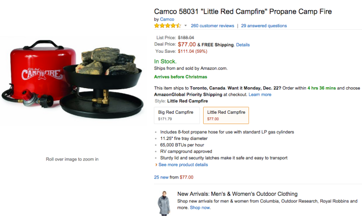 Camco 58031 %22Little Red Campfire%22 Propane Camp Fire-sale-03