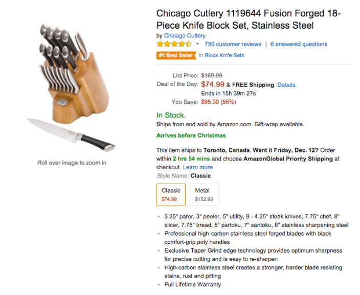 Chicago Cutlery-sale-01-Amazon