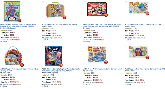 deal of the day toys alex more than 50% off
