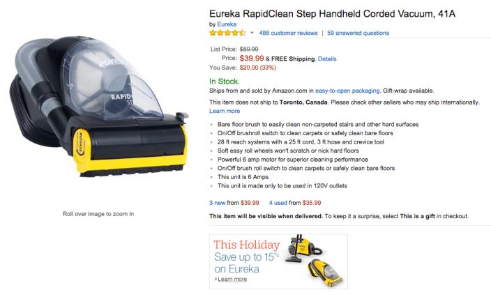 Eureka RapidClean Step Handheld Corded Vacuum-sale-03
