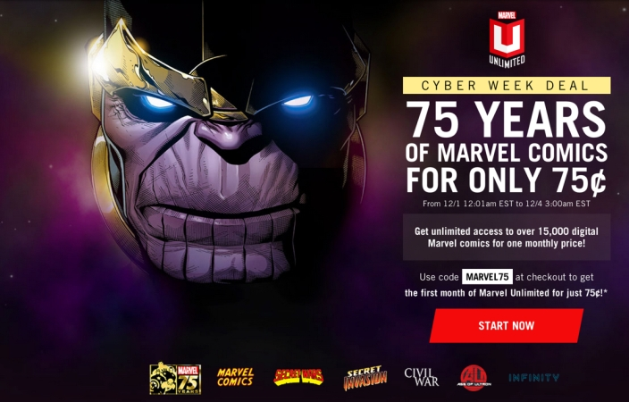 Get unlimited access to over 15,000 digital Marvel comics