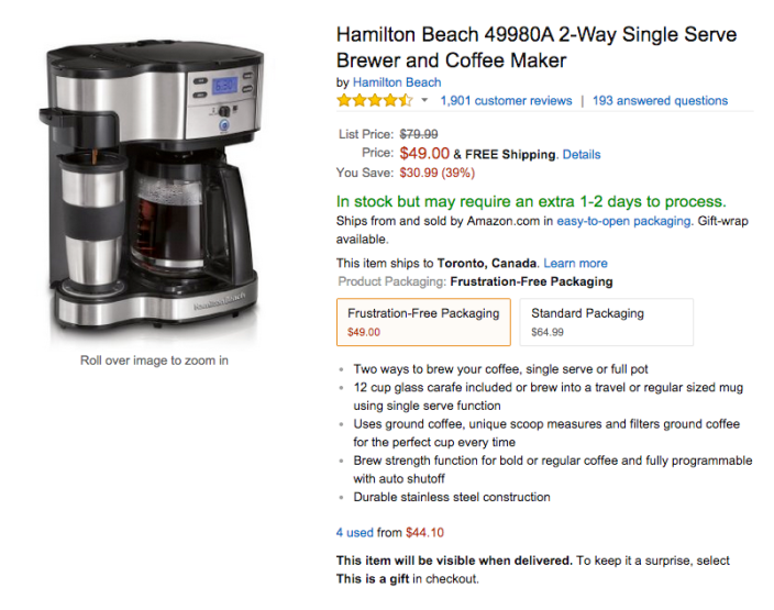 Hamilton Beach 2-Way Single Serve Brewer and Coffee Maker four (49980A)-sale-02
