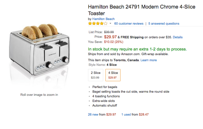 Hamilton Beach Modern Chrome 4-Slice Toaster (24791)-sale-02