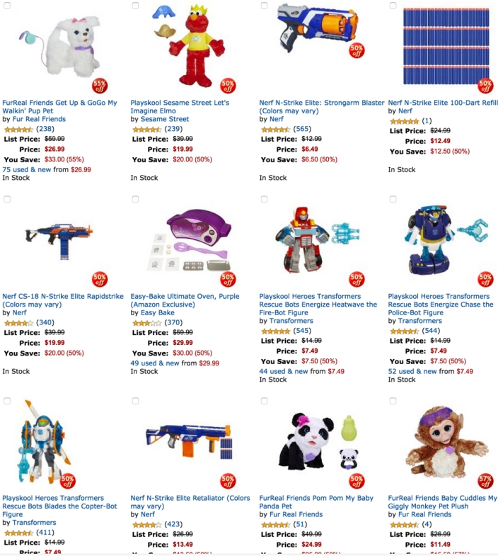 Hasbro toys amazon gold box