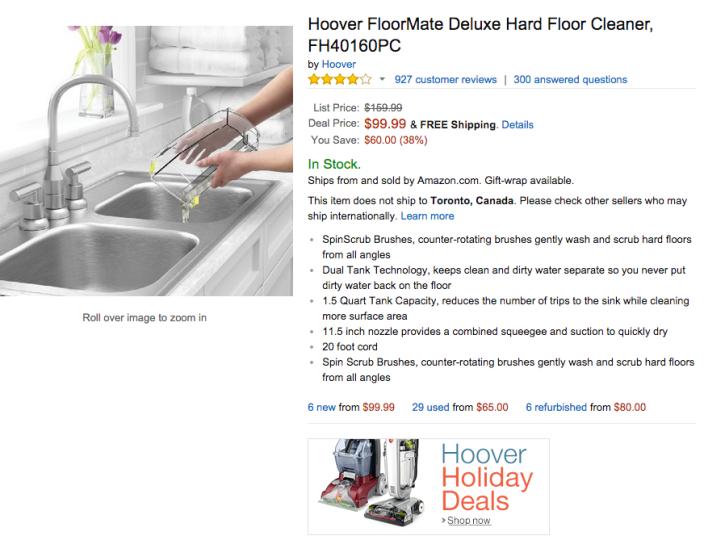 Hoover FloorMate Deluxe Hard Floor Cleaner (FH40160PC)-sale-02
