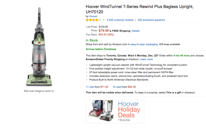 Hoover WindTunnel T-Series Rewind Plus Bagless Upright Vacuum (UH70120-sale-02