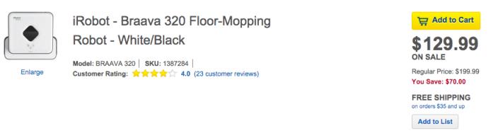 iRobot Braava 320 Floor Mopping Robot (BRAAVA 320)-sale-01