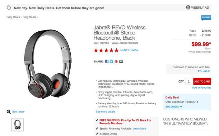 Jabra REVO Wireless Bluetooth Stereo Headphones in Black-02