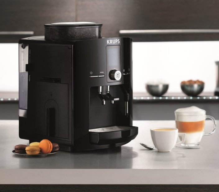 KRUPS Espresseria Fully Automatic Espresso Machine with Built-in Conical Burr Grinder in black (EA825)-sale-01