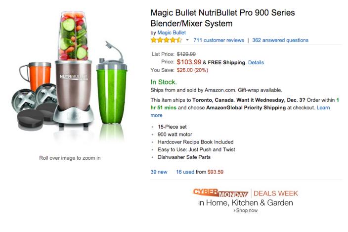 Magic Bullet NutriBullet Pro 900 Series Blender:Mixer System-sale-02