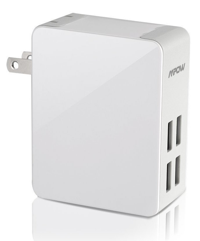 Mpow® 25W:5A 4-Port Ultra Portable multiple USB Wall Charger Travel Power Adapter with Xsmart™