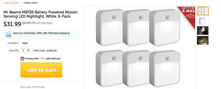 Mr Beams Battery Powered Motion Sensing LED Nightlight in White-6-Pack-MB726-sale-02