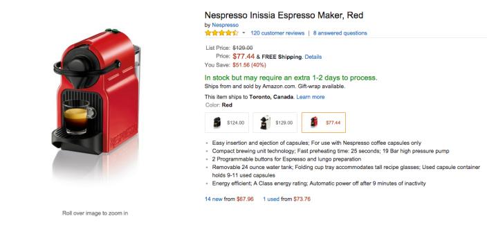Nespresso Inissia Espresso Maker in Red-sale-02