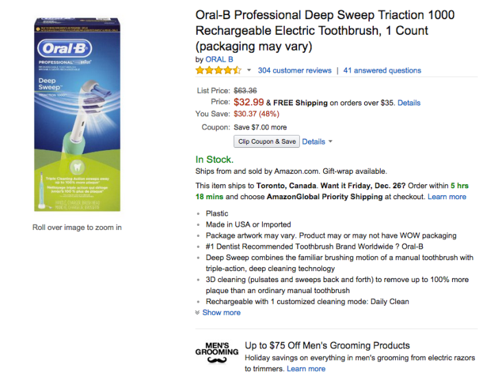 Oral-B Professional Deep Sweep Triaction 1000 Rechargeable Electric Toothbrush-sale-03