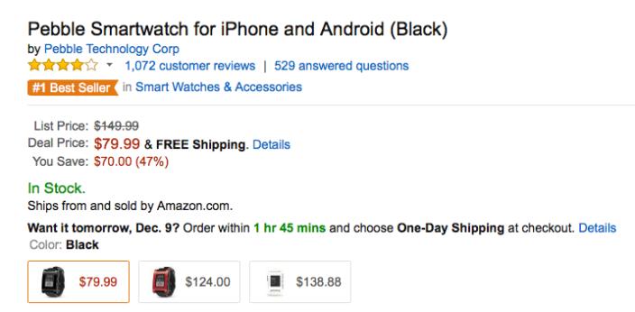 pebble-smart-watch-black-amazon-deal