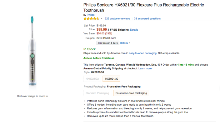 Philips Sonicare Flexcare Plus Rechargeable Electric Toothbrush (HX6921:02-sale-02