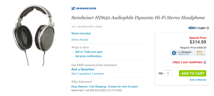 Sennheiser HD650 Audiophile Dynamic Hi-Fi Stereo Headphones-sale-02