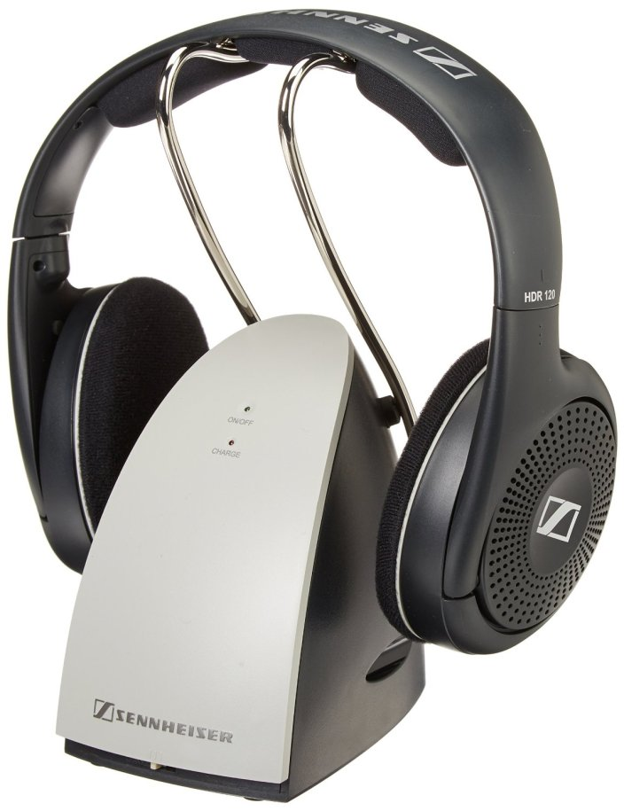 Sennheiser On-Ear Wireless RF Headphones with Charging Cradle-RS120-sale-01