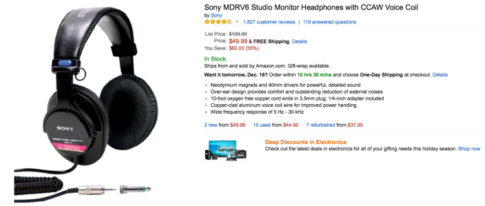 sony-MDRV6-amazon-deal