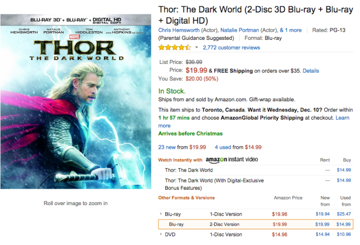 Thor- The Dark World (2-Disc 3D Blu-ray + Blu-ray + Digital HD)-sale-02