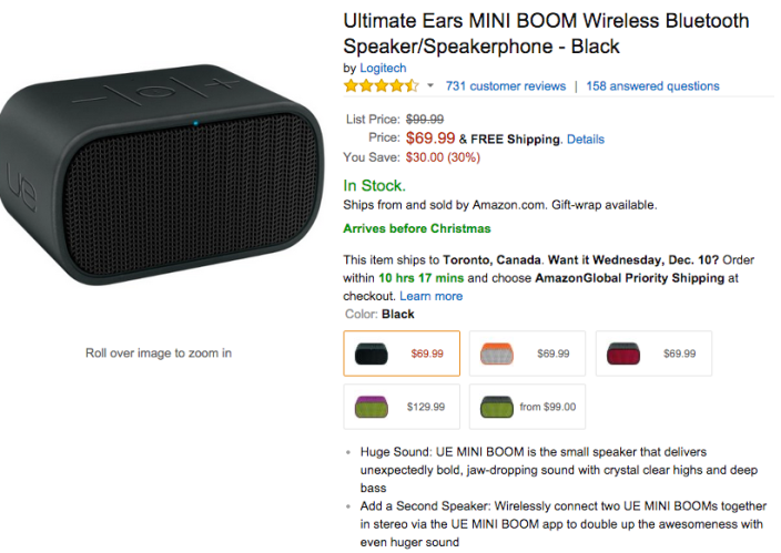 Ultimate Ears MINI BOOM Wireless Bluetooth Speaker:Speakerphone-sale-02