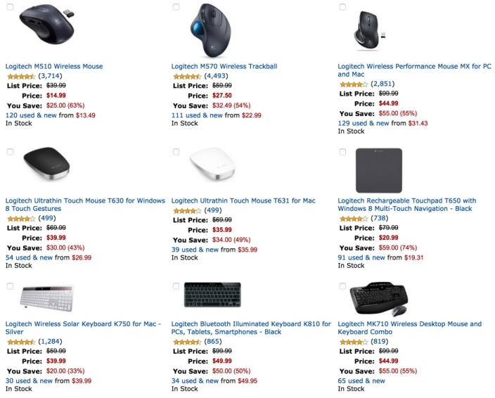 Up to 50% off Select Logitech