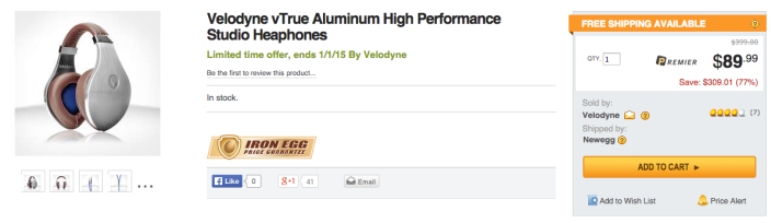 Velodyne vTrue Aluminum Classic Style Headphones with Inline Mic and Remote for Apple devices-SALE-01