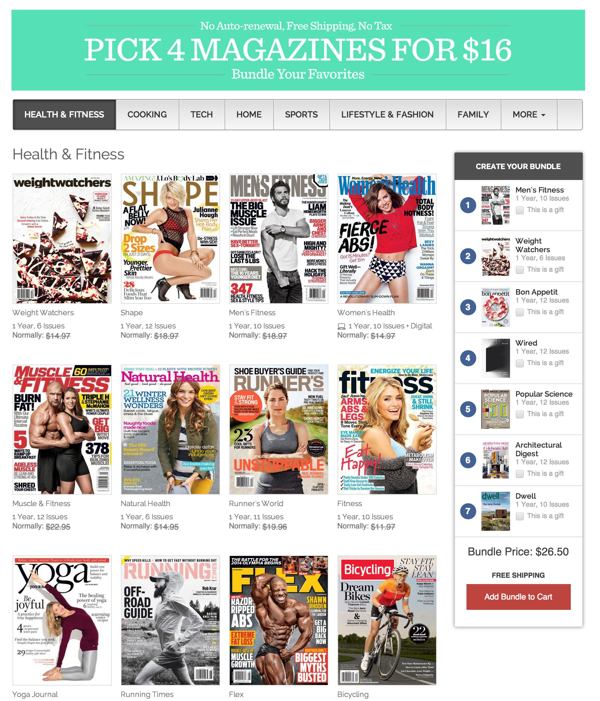 Magazine bundle sale – from $3.50 each/year: Wired, GQ, ESPN ...