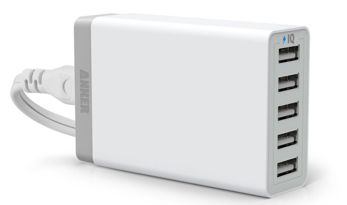 Anker 40W 5-Port USB Charger with at Newegg