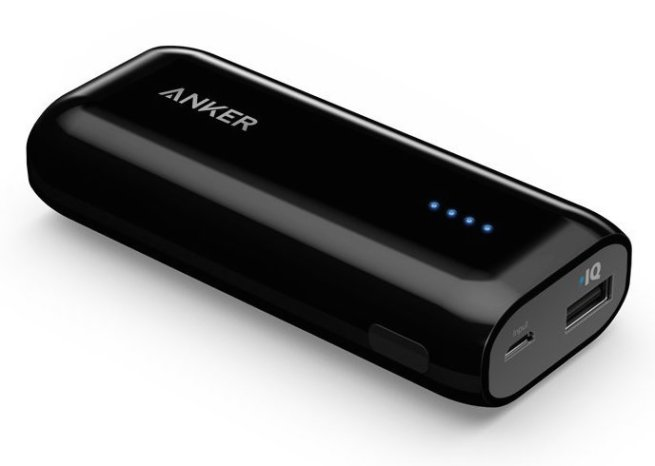 Anker® Astro E1 5200mAh Ultra Compact Portable Charger External Battery Power Bank with PowerIQ™ Technology for iPhone, iPad, Samsung, Nexus, HTC and More (Black)