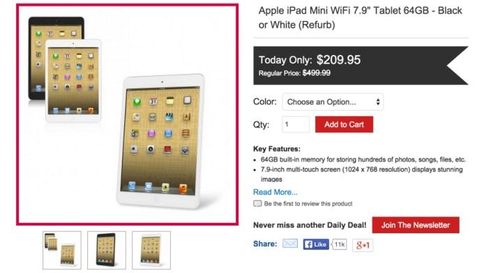 Apple iPad Mini 64GB WiFi 7.9%22 in black or white