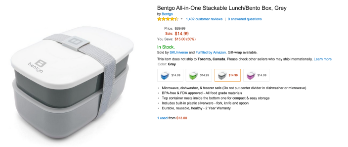 Bentgo All-in-One Stackable Lunch:Bento Box set in multiple colors-sale-03