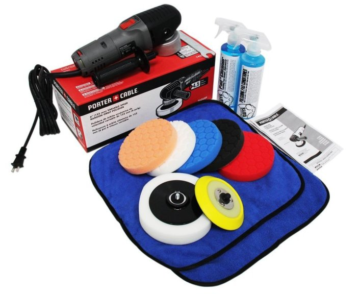 Chemical Guys BUF209 Porter Cable 7424XP Detailing Complete Detailing Kit with Pads, Backing Plate and Accessories-sale-01