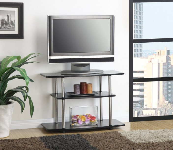 Convenience Concepts 3-Tier TV Stand in black (131020)-sale-01
