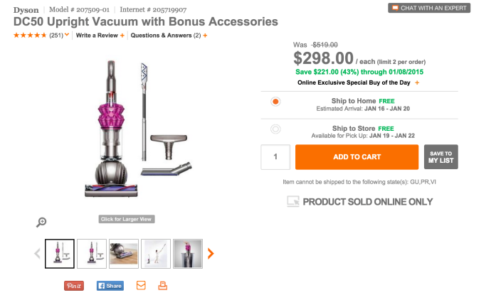 Dyson DC50 Upright Vacuum with Bonus Accessories-sale-02