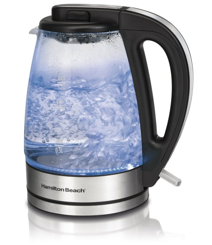 Hamilton Beach illuminated Glass Electric Kettle, 1.7-Liter (40865)-sale-01