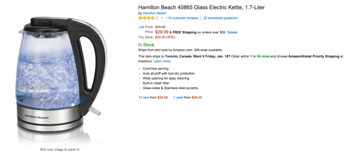Hamilton Beach illuminated Glass Electric Kettle, 1.7-Liter (40865)-sale-02