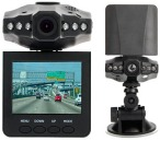 HD DVR Dash Camera with 2.5'' Rotating LCD Screen, LED Night Vision and SD:MMC Card Slot