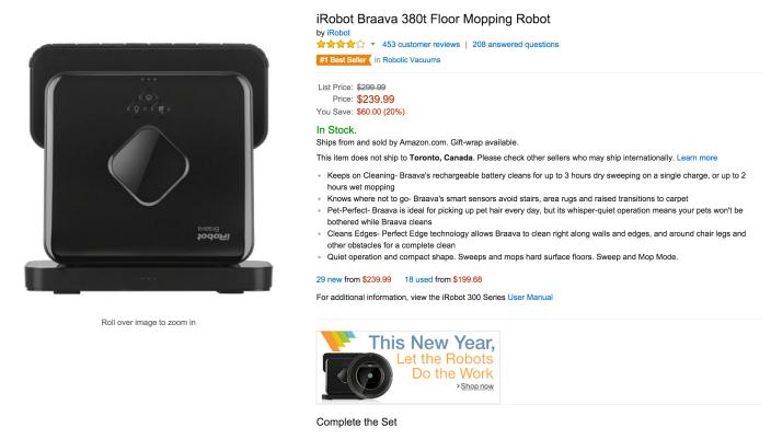 iRobot Braava 380t Floor Mopping Robot-sale-02