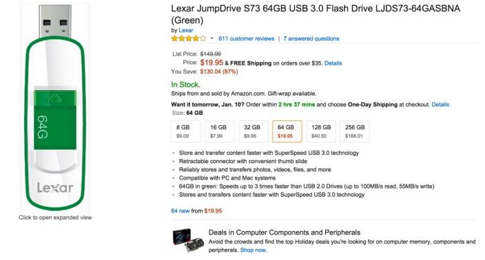 lexar gree usb flash drive