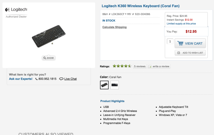 Logitech K360 Wireless Keyboard (Coral Fan)-sale-02