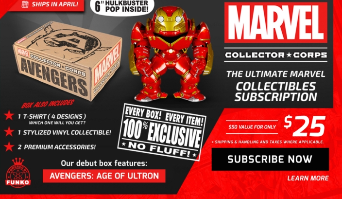 Marvel collector corps subscription service