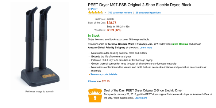 PEET Dryer Original 2-Shoe Electric Dryer-sale-02