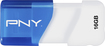 PNY - Compact Attache 16GB USB 2.0 Flash Drive - Blue