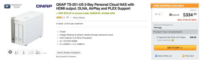 QNAP TS-251-US 2-Bay Personal Cloud NAS-sale-03