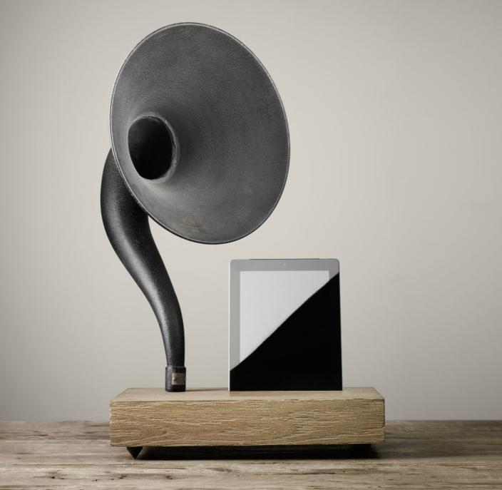 restoration-hardware-gramophone-ipad