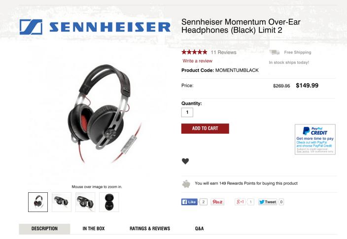 Sennheiser-Momentum Over-Ear-headphones