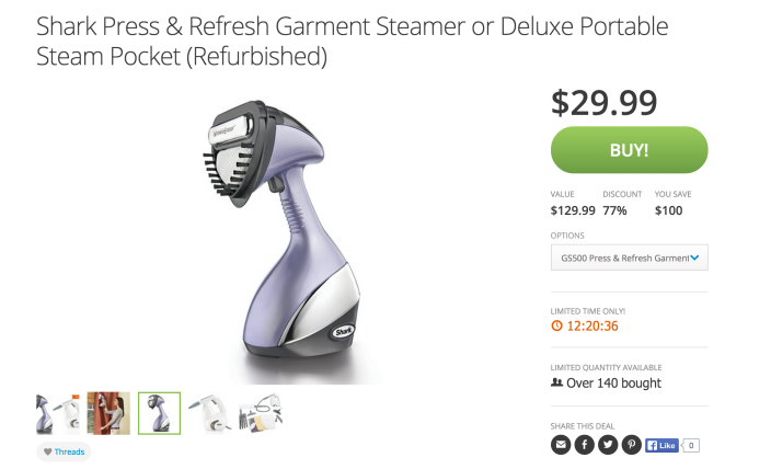 Shark Press & Refresh Garment Steamer (GS500)-sale-03