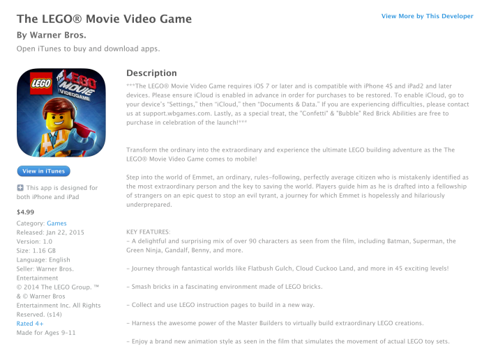 The LEGO Movie Videogame-iOS-06