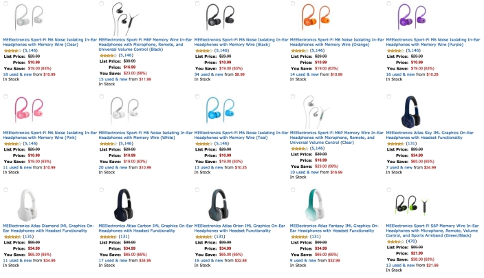 Up to 67% Off Select MEElectronics Fitness and Fashion Headphones